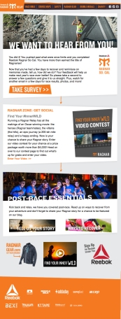 Subject Line: Tell us how we did + Enter the video contest